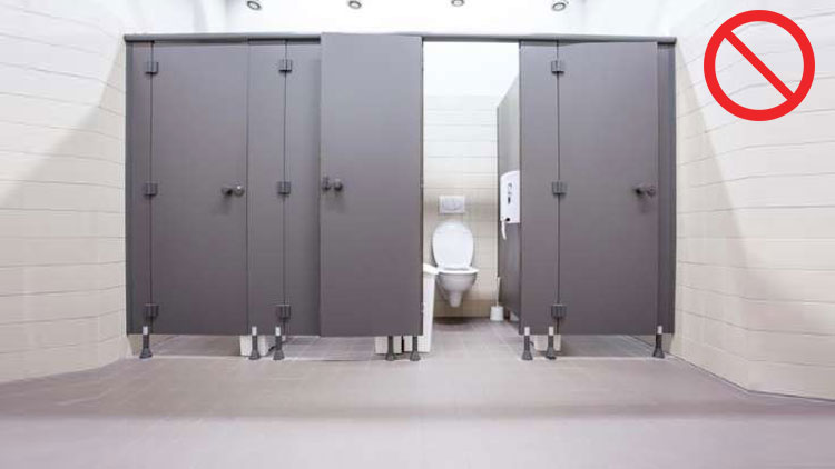 Avoid using public restrooms