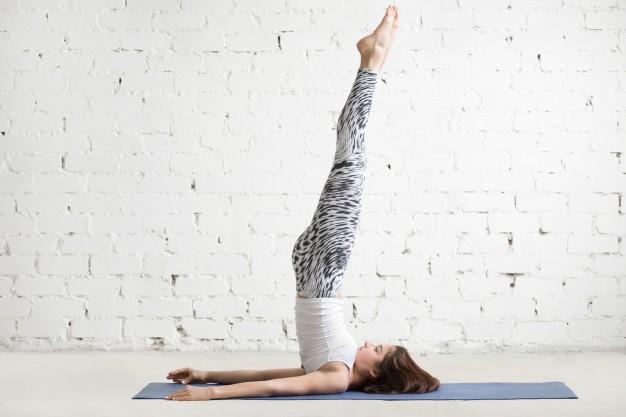Yoga Asanas - Sarvangasana