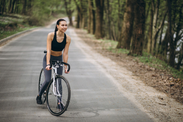 vaginal questions - woman cycling