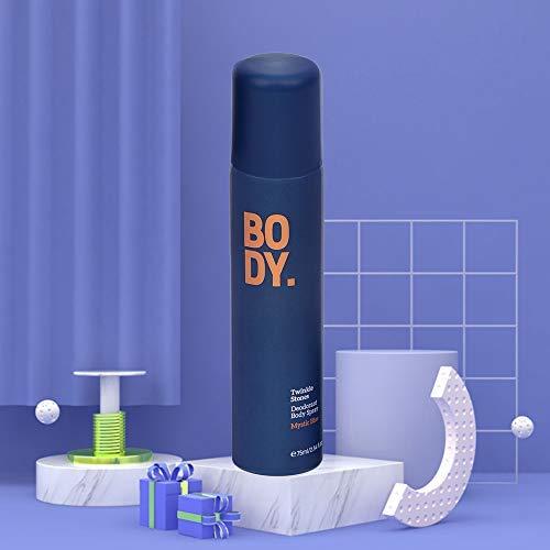 MINISO Twinkle Stones Deodorant Body Spray for Men Women