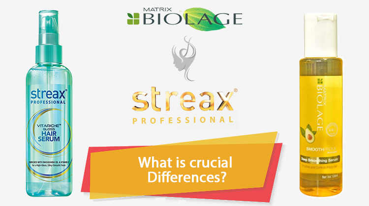 Streax Hair Serum VS Matrix Biolage Smoothing Serum